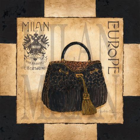 Shopping Milan Art Print