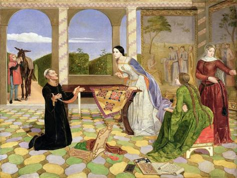 Berengaria's Alarm for the Safety of Her Husband, Richard Coeur De Lion, 1850 Giclee Print