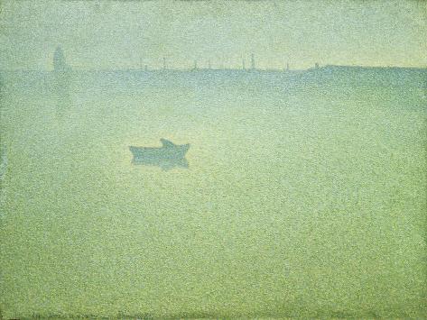 The Seine at Dawn Impressão giclée