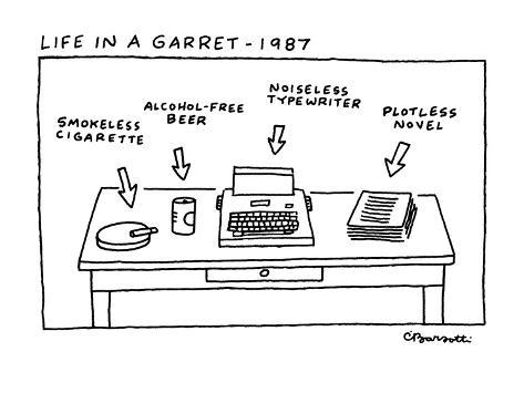 Life in Garret-1987 - New Yorker Cartoon Premium Giclee Print