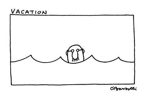 Vacation' - New Yorker Cartoon Premium Giclee Print
