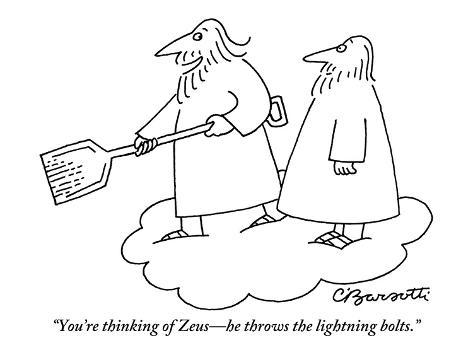 you re thinking of zeus he throws the lightning bolts new yorker
