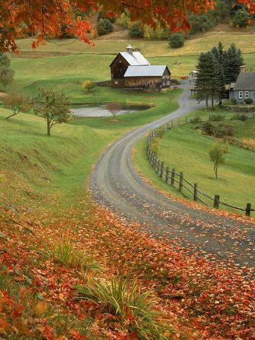 Sleepy Hollow Farm, Woodstock, VT Photographic Print