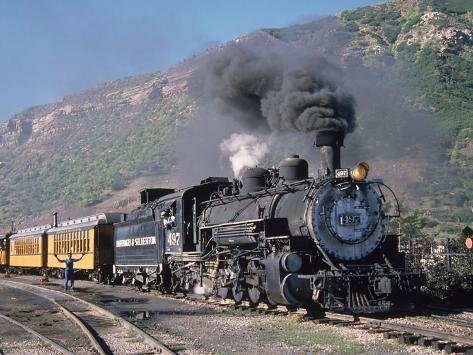 Steam Locomotive, Durango, Colorado Photographic Print