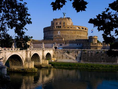 Castello Sant Angelo and River Tiber, Rome, Lazio, Italy, Europe Photographic Print