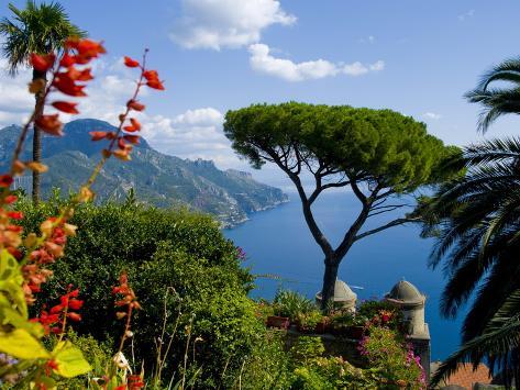 Rufolo View, Ravello, Amalfi Coast, UNESCO World Heritage Site, Campania, Italy, Europe Photographic Print