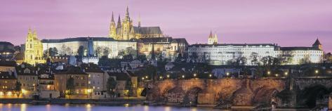 Charles Bridge, Hradcany Castle, St. Vitus Cathedral, Prague, Czech Republic Photographic Print
