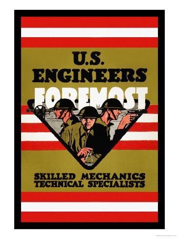 U.S. Engineers Foremost Art Print