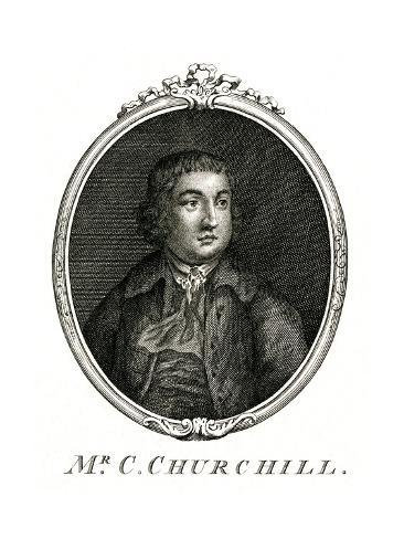 Charles Churchill (Oval) Stampa giclée