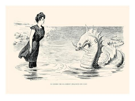 No Wonder The Sea Serpent Frequents Our Coast Prints By