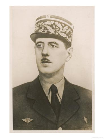 Charles de Gaulle French Soldier and Statesman Giclee Print