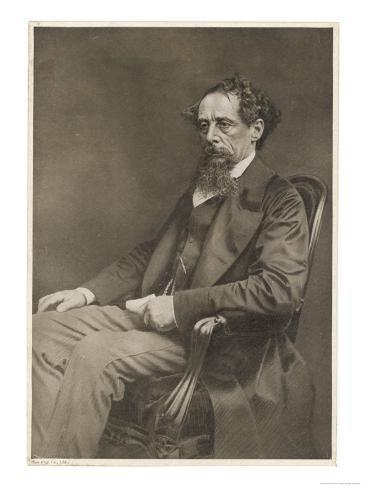 Charles Dickens Writer Giclee Print