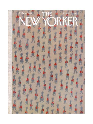 The New Yorker Cover - February 14, 1959 Premium Giclee Print