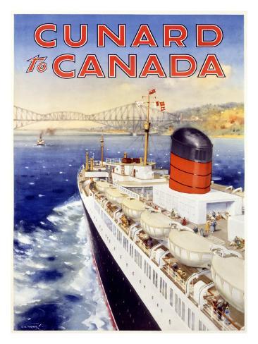 Cunard Line, Canada Giclee Print