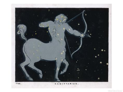 The Constellation of Sagittarius Half Man and Half Horse with a Bow and Arrow Giclee Print