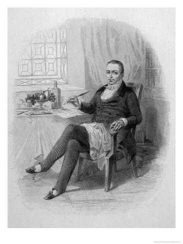 Anthelme Brillat-Savarin, French Gastronomist and Writer Giclee Print