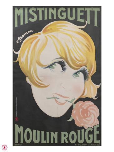 1925 Mistinguett Moulin Rouge Giclee Print