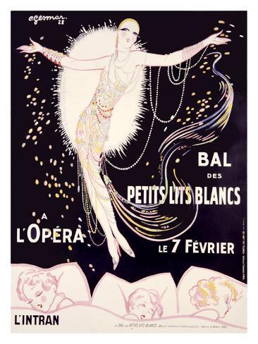 Bal des Petits Lits Blancs Giclee Print