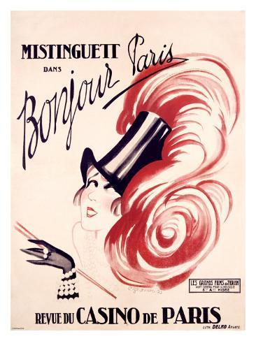 Mistinguett, Bonjour Paris Giclee Print