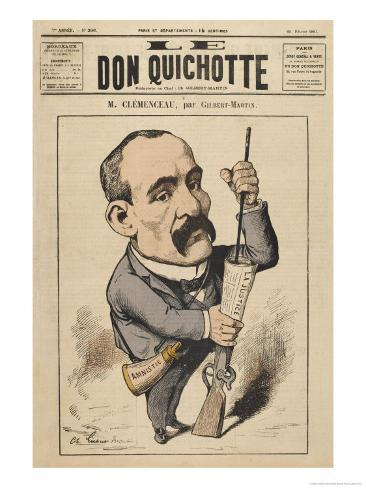 Georges Clemenceau French Statesman: a Satire on Justice Giclee Print