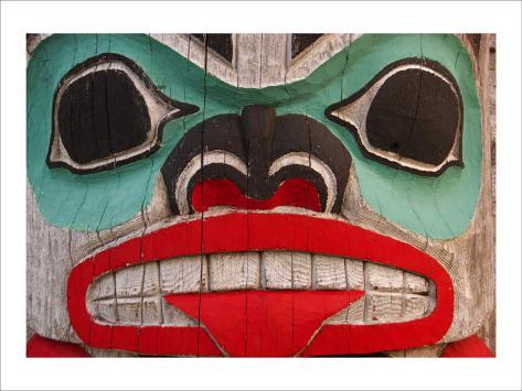 Great Northwest Bear Totem Giclee Print