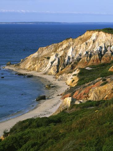 The Gay Head Cliffs at Aquinnah, Marthas Vineyard USA
