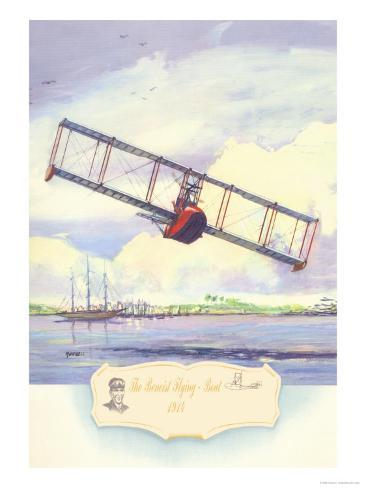 The Benoist Flying Boat, 1914 Stampa giclée premium