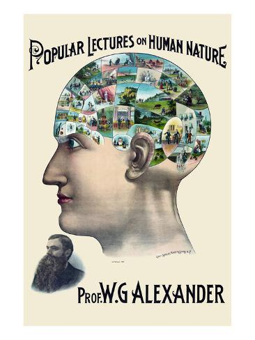 Popular Lectures on Human Nature Art Print