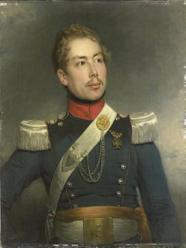 Portrait of Christian Edouard Fraser, Second Lieutenant of the 5th Regiment of the Dragoons Art Print