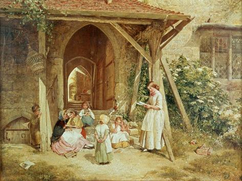 Playing at Schools, 1857 Giclee Print