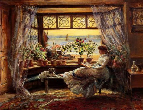 Reading by the Window Hastings Art Print