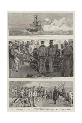 The Gunnery Trials of the Latest Ironclad, HMS Victoria Stampa giclée