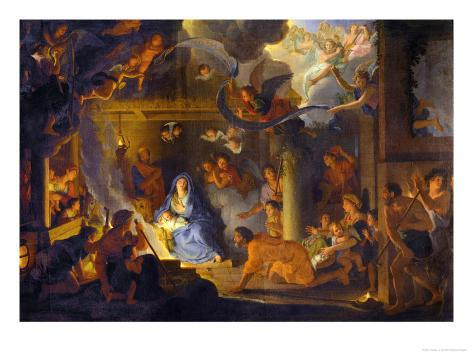 The Adoration of the Shepherds, 1689 Lámina giclée