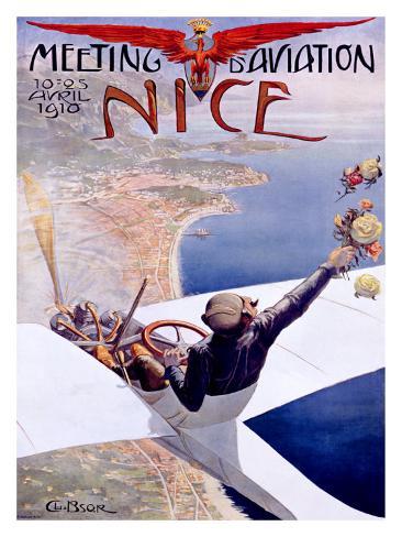Meeting d'Aviation, Nice, 1910 Giclee Print