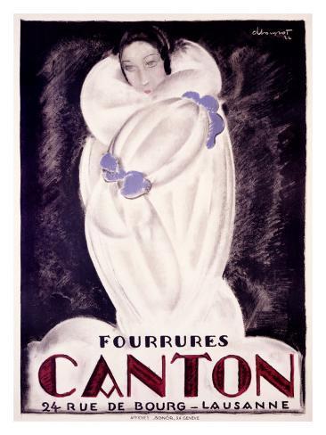 Fourrures Canton, 1924 Giclee Print