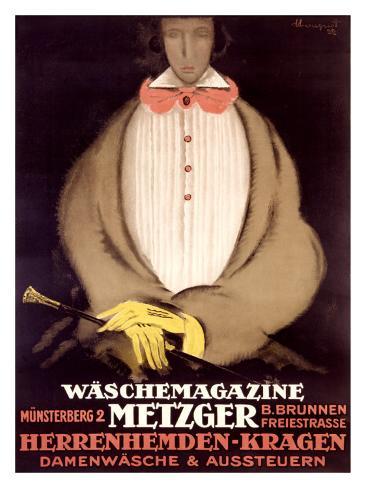 Waschemagazine Metzger Giclee Print