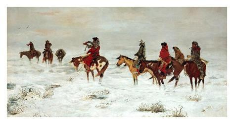 Lost In A Snowstorm, We Are Friends Art Print