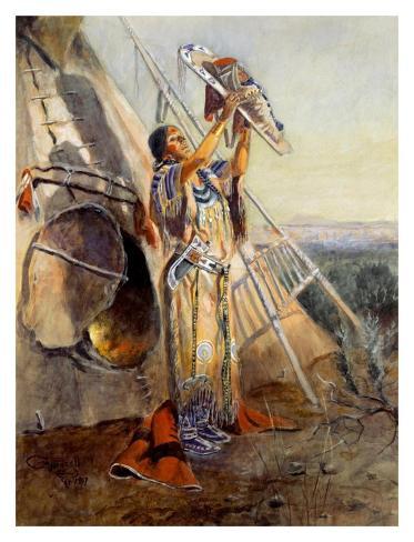 Sun Worship in Montana Art Print