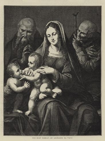The Holy Family, by Leonardo Da Vinci Lámina giclée