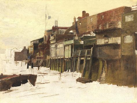 Sketch for 'London River', c.1875 Giclee Print