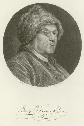 Benjamin Franklinin Giclée-vedos