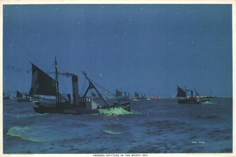 Herring Drifters in the North Sea Giclee Print