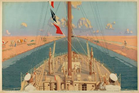 Suez Canal, from the Series 'The Empire's Highway to India', 1928 Giclee Print