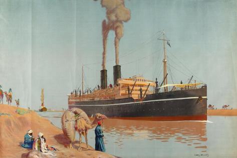 The Suez Canal Giclee Print