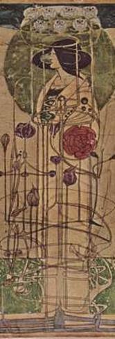 Charles Rennie Mackintosh (Design for a wall decoration) Art Poster Print Masterprint