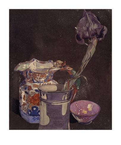 Grey Iris Art Print