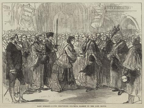 Lady Burdett-Coutts Delivering Columbia Market to the Lord Mayor Lámina giclée