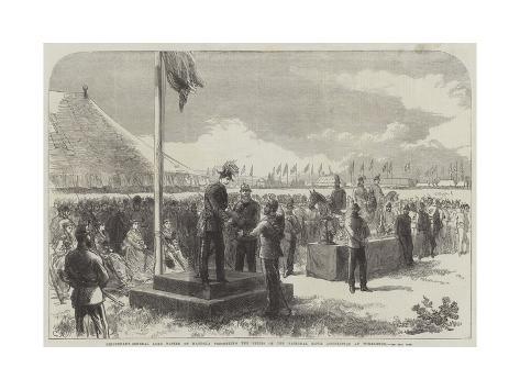Lieutenant-General Lord Napier of Magdala Presenting the Prizes at the National Rifle Association a Lámina giclée