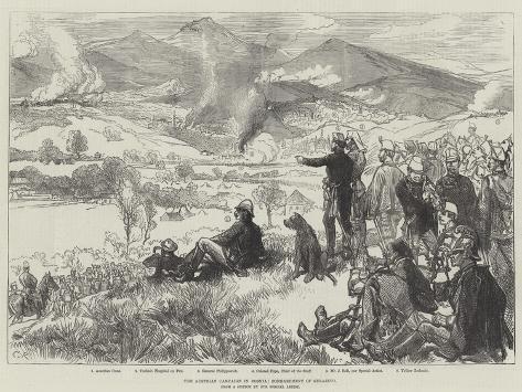 The Austrian Campaign in Bosnia, Bombardment of Serajevo Lámina giclée