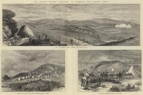 The Autumn Military Manoeuvres on Dartmoor and Cannock Chase Lámina giclée
